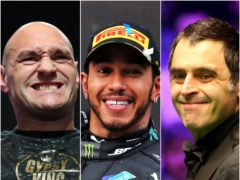 Tyson Fury (left), Lewis Hamiton (centre) and Ronnie O'Sullivan have been shortlisted (Bradley Collyer/PA Wire/Nigel French/PA)