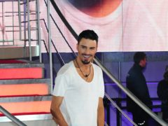 Rylan Clark leaving Celebrity Big Brother after being announced as the winner (Ian West/PA)