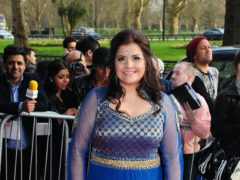 Nina Wadia arrives at the Asian Awards held at the Grosvenor House Hotel in London (Matt Crossick/PA)