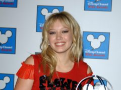 Hilary Duff with a Best Disney Channel show award won by the original Lizzie McGuire (Ian West/PA)