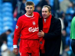 Steven Gerrard paid tribute to former Liverpool boss Gerard Houllier, right, who died at the age of 73 on Monday (Martin Rickett/PA)