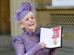 Television star Dame Barbara Windsor after her investiture ceremony at Buckingham Palace in 2016 (PA)