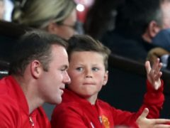 """Wayne Rooney said he was a """"proud dad"""" after his son signed for Manchester United (Peter Byrne/PA)"""