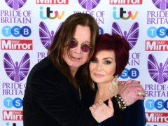 Sharon Osbourne is back home with rockstar husband Ozzy after testing negative for Covid-19 (Ian West/PA)