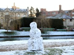 Detailed projections suggest traditional winter activities such as building snowmen could be lost if global greenhouse gas emissions are not reduced (Joe Giddens/PA)