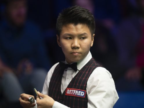 Zhou Yuelong has been backed to win a major tournament (Dave Howarth/PA)