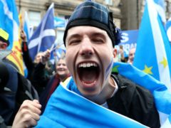 The poll is the 17th in a row to show a majority support for independence (Andrew Milligan/PA)