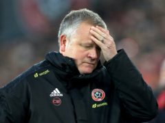 Chris Wilder's team have lost 10 of their 11 Premier League matches this season – eight of them by a single-goal margin (Mike Egerton/PA)