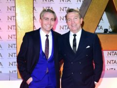 Bradley Walsh (right) broke his back while filming in the US with his son, Barney (Ian West/PA)