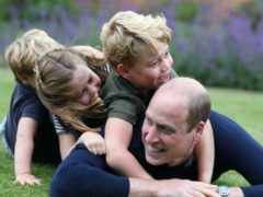 George, Charlotte and Louis with their father the Duke of Cambridge (Duchess of Cambridge/Kensington Palace/PA)