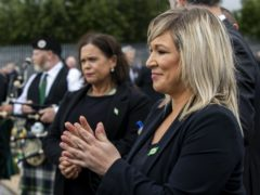Deputy First Minister Michelle O'Neill during the funeral of Bobby Storey at Milltown Cemetery in west Belfast (PA)