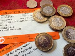 Rail passengers will be hit by above inflation fare rises for the first time in eight years, the Department for Transport has announced (Ben Birchall/PA)