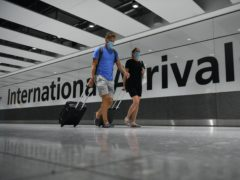 Arrivals at Heathrow (Kirsty O'Connor/PA)