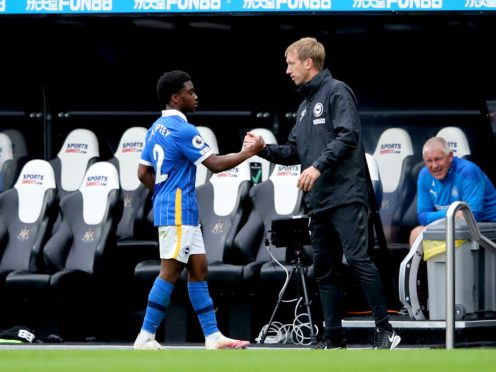 Tariq Lamptey, left, has impressed his manager Graham Potter (Alex Pantling/PA)