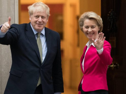 Boris Johnson and European Commission president Ursula von der Leyen are to hold emergency talks (Stefan Rousseau/PA)