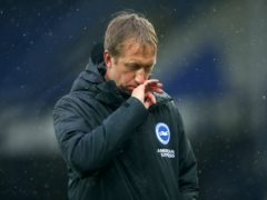 Brighton boss Graham Potter is determined to avoid falling into the bottom three (Alex Livesey/PA)