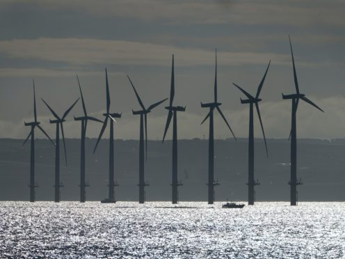 Offshore wind forms a key part of UK plans to cut emissions (Owen Humphreys/PA)