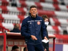 Alex Revell was unhappy after Stevenage's heavy defeat (John Walton/PA)