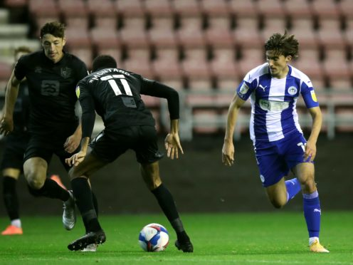 Oliver Crankshaw rescued a point for Wigan (Martin Rickett/PA)