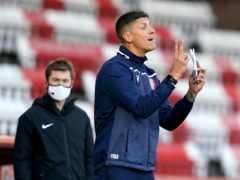 Stevenage manager Alex Revell was happy to finish 2020 with a win (John Walton/PA)