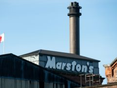 Marston's brewing arm was spun into a joint venture with Carlsberg in October (Jacob King/PA)