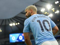 Sergio Aguero could return for Manchester City (Michael Regan/PA)