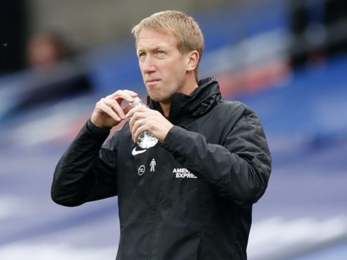 Brighton manager Graham Potter is refusing to dwell on the points which have slipped from his grasp (Peter Cziborra/PA)
