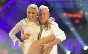 Jamie Laing and Karen Hauer will be dancing a samba and a quickstep (Guy Levy/BBC)