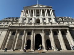 The Bank of England has held interest rates at 0.1% (Yui Mok/PA)