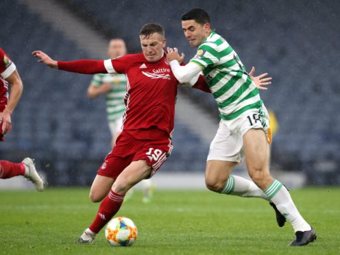 Lewis Ferguson, left, has made 100 appearances for Aberdeen (Andrew Milligan/PA)
