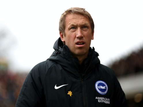 Brighton boss Graham Potter is looking forward to having fans back at the AMEX Stadium (Nick Potts/PA)