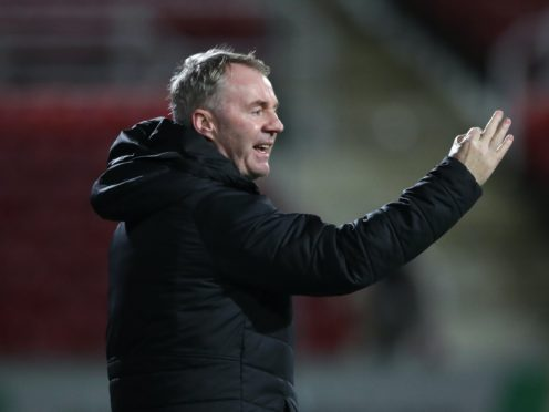 John Sheridan will be without Rob Hunt for the match against Wigan (Nick Potts/PA)