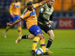 Striker Nicky Maynard will be absent for Mansfield (Zac Goodwin/PA)