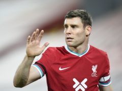 James Milner is set to return for Liverpool after a hamstring injury (Peter Powell/PA)
