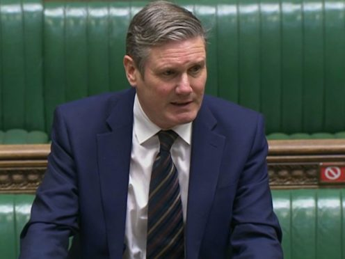 Labour leader Sir Keir Starmer said it was 'really important' all political parties worked together (House of Commons/PA)