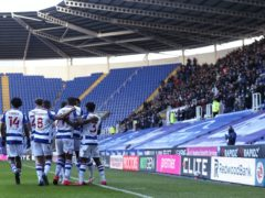 Reading's Lucas Joao celebrates his goal in front of the returning fans (Steve Parsons/PA)
