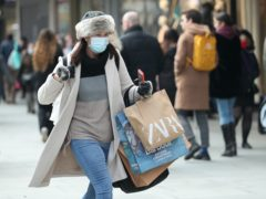 Figures show retail footfall dropped by nearly a third on the first Saturday of December compared to last year (Yui Mok/PA Wire)