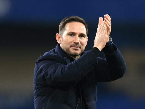 Chelsea manager Frank Lampard applauded his side's fans following the win over Leeds (Mike Hewitt/PA)