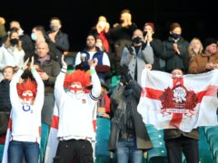 England fans were back inside Twickenham for the Autumn Nations Cup Final with France (Adam Davy/PA)