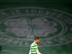 Celtic's Christopher Jullien walks off after another disappointing 90 minutes (Andrew Milligan/PA)