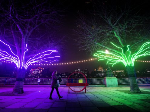 A pedestrian passes Lumen by David Ogle (Victoria Jones/PA)