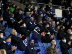 Brighton are among the small numbers of venues in the United Kingdom that can still welcome supporters (Noami Baker/PA)
