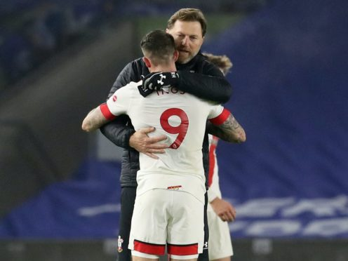 Southampton manager Ralph Hasenhuttl and Danny Ings (Gareth Fuller/PA)