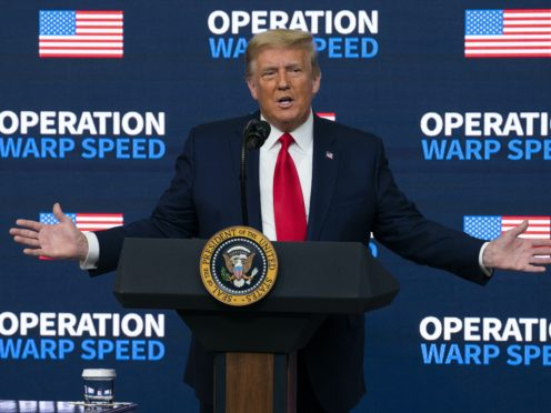 Donald Trump's defiance and claims of a rigged election after his loss to Joe Biden have caught on among a growing number of Republicans ((Evan Vucci/AP)