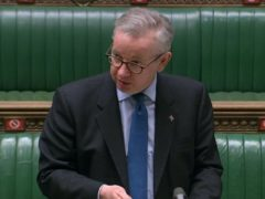 Cabinet Office minister Michael Gove made the announcement in the House of Commons (House of Commons/PA)