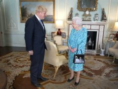 The Queen and Boris Johnson during an audience in Buckingham Palace (Victoria Jones/PA)