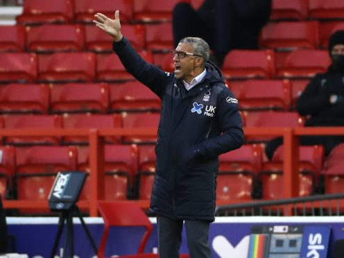 Manager Chris Hughton saw Nottingham Forest earn a point against former club Birmingham (Bradley Collyer/PA)
