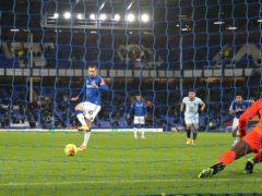 Gylfi Sigurdsson scores from the penalty spot (Clive Brunskill/PA)