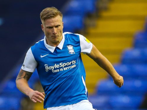 Kristian Pedersen came off at half-time in Birmingham's 4-0 loss to Derby (Barrington Coombs/PA).