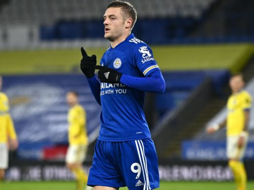 Jamie Vardy scored his 113th Premier League goal in Leicester's 3-0 win against Brighton (Ben Stansall/PA)
